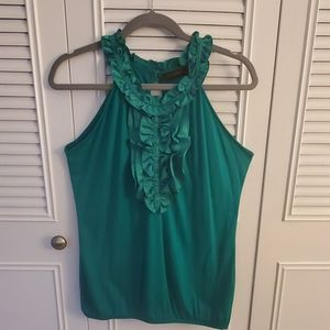 The Limited Emerald Green High-Neck Sleveless Top